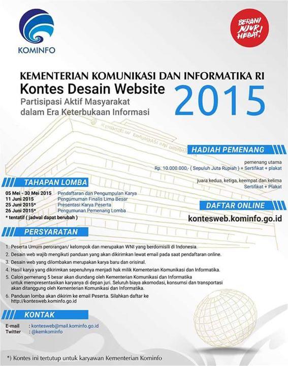 Kontes Desain Website kominfo 2015